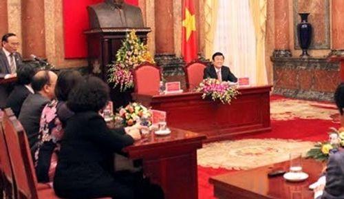 Chủ tịch nước gặp mặt đoàn đại biểu luật gia tiêu biểu toàn quốc - Ảnh 1