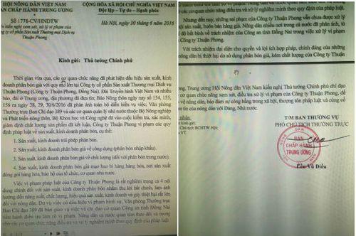 Hội Nông dân VN đề nghị Thủ tướng xử lý sai phạm của Cty Thuận Phong - Ảnh 1