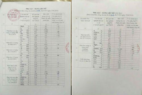 Phân bón của Cty Thuận Phong có chất lượng thấp hơn 70% so với công bố - Ảnh 1