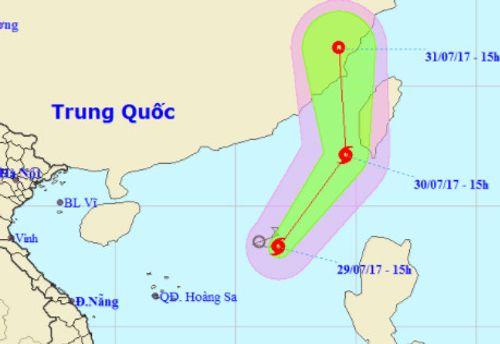 Xuất hiện cơn bão số 5 trên Biển Đông - Ảnh 1