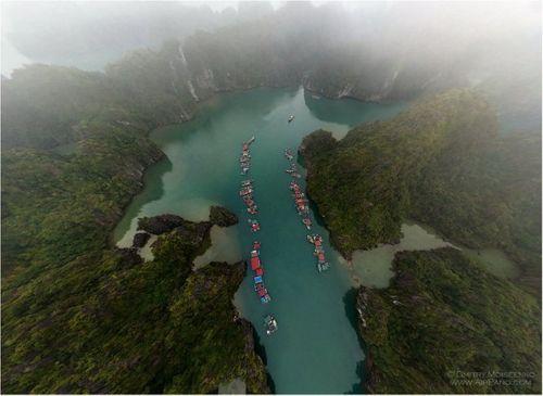 Vịnh Hạ Long đẹp tuyệt vời qua ảnh panorama từ trên cao - Ảnh 4