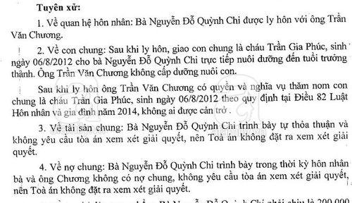 """Quỳnh Chi đã """"giành"""" được quyền nuôi con trai sau ly hôn - Ảnh 3"""