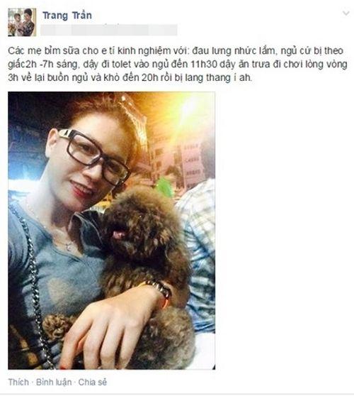 Nghi vấn người mẫu Trang Trần mang thai 6 tuần? - Ảnh 1