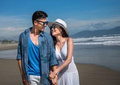 Lương Thế Thành cõng Thúy Diễm khi chụp ảnh cưới trên biển - Ảnh 1
