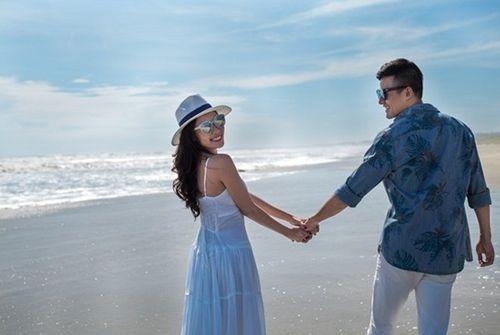 Lương Thế Thành cõng Thúy Diễm khi chụp ảnh cưới trên biển - Ảnh 3