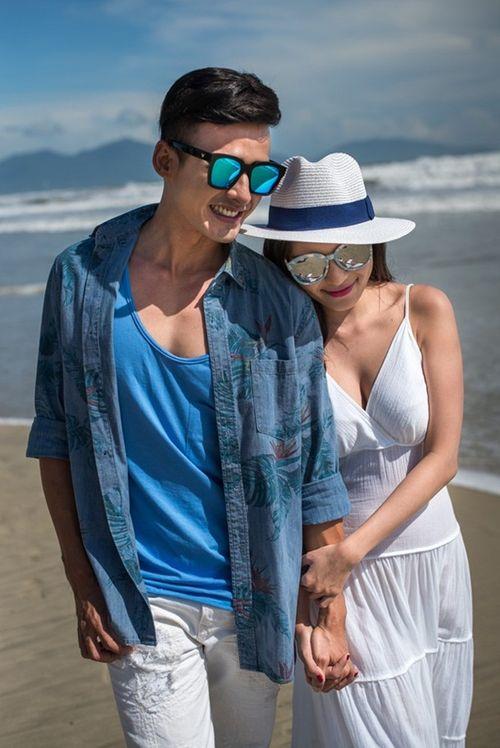 Lương Thế Thành cõng Thúy Diễm khi chụp ảnh cưới trên biển - Ảnh 4