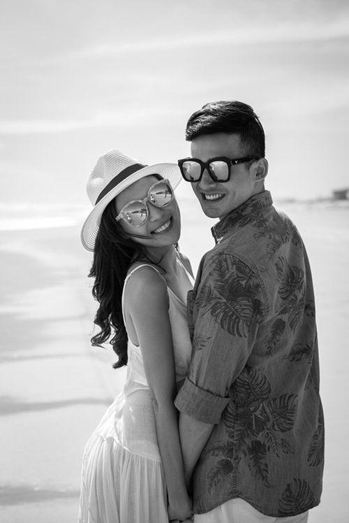 Lương Thế Thành cõng Thúy Diễm khi chụp ảnh cưới trên biển - Ảnh 7