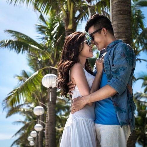 Lương Thế Thành cõng Thúy Diễm khi chụp ảnh cưới trên biển - Ảnh 8