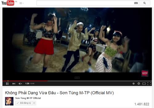 """""""Choáng"""" với lượt xem khủng của MV """"Không phải dạng vừa đâu"""" - Ảnh 1"""