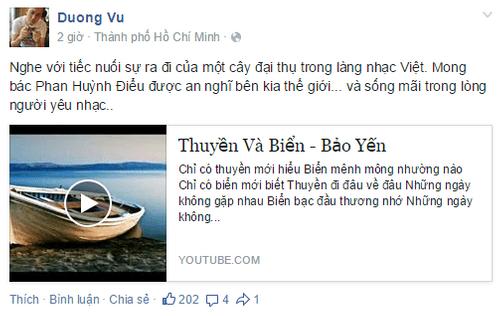 Nghệ sĩ Việt tiếc thương nhạc sĩ Phan Huỳnh Điểu - Ảnh 3