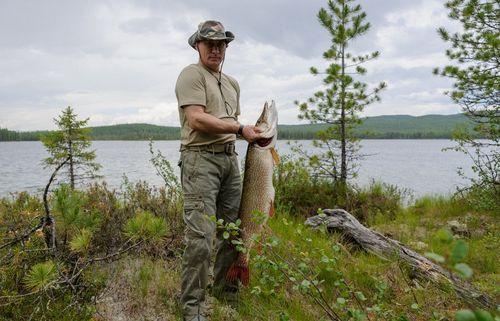 Kremlin xác nhận việc ông Putin câu được con cá 'khủng' - Ảnh 1