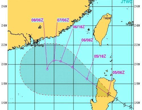 Bão Maysak tiến vào Biển Đông, khu vực biển bắc vĩ tuyến 16 nguy hiểm - Ảnh 1