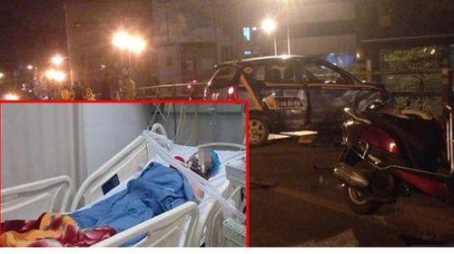 Tai nạn cầu vượt Thái Hà: Tài xế taxi đội mũ bảo hiểm trước khi nhảy cầu? - Ảnh 1