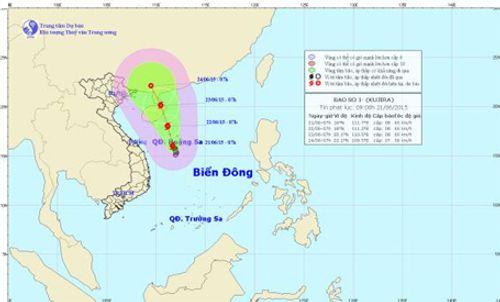 Cơn bão số 1 hình thành trên Biển Đông giật cấp 10 - Ảnh 2