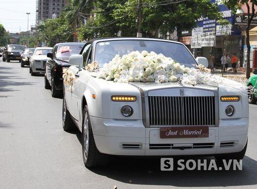 Lác mắt với dòng xe siêu sang đám cưới ở Nghệ An - Ảnh 3