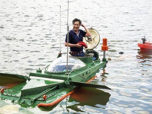 Tàu ngầm mini Hoàng Sa chạy thử thành công trên biển - Ảnh 3