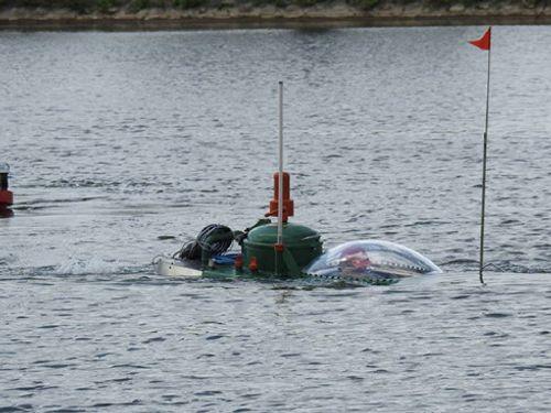 Tàu ngầm mini Hoàng Sa chạy thử thành công trên biển - Ảnh 4