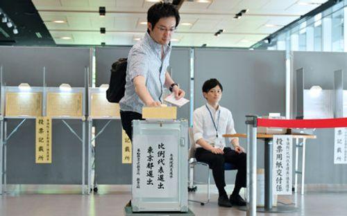 Kết thúc bỏ phiếu bầu cử Thượng viện Nhật Bản - Ảnh 1
