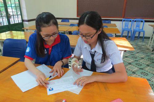 Thi THPT Quốc gia 2016: Thí sinh gãy tay được chép hộ bài thi - Ảnh 1