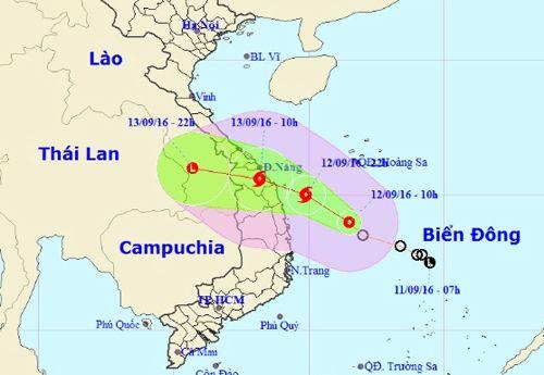 Dự báo thời tiết ngày mai 13/9: Áp thấp nhiệt đới mạnh lên thành bão - Ảnh 1