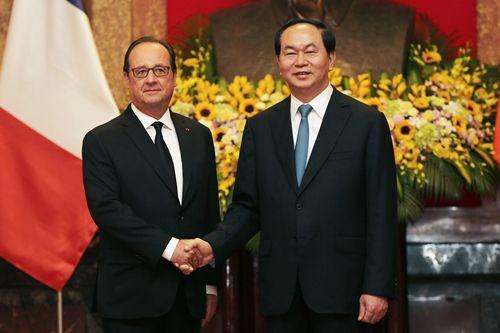 Hình ảnh Chủ tịch nước đón Tổng thống Pháp tại Phủ Chủ tịch - Ảnh 4