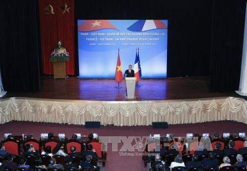 """Tổng thống Hollande nói về """"tương lai chung của Pháp-Việt Nam"""" - Ảnh 1"""
