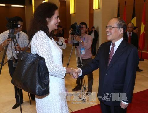 Chủ tịch Quốc hội hội đàm với Chủ tịch Thượng viện Vương Quốc Bỉ - Ảnh 1