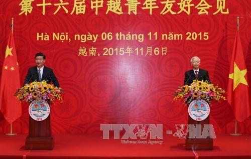 Tổng Bí thư và Chủ tịch Trung Quốc gặp đại biểu thanh niên hai nước - Ảnh 1