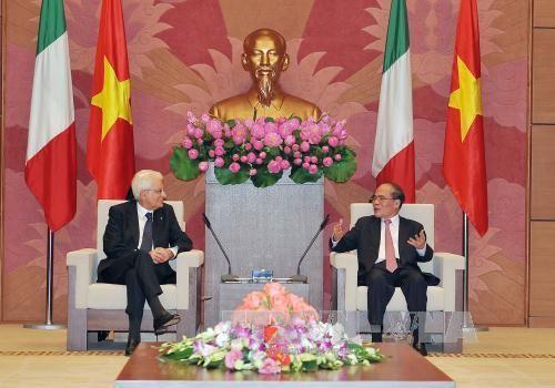 Việt Nam và Italy nhất trí tăng cường quan hệ hợp tác - Ảnh 1