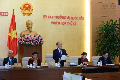 Khai mạc phiên họp thứ 46 Ủy ban Thường vụ Quốc hội - Ảnh 1