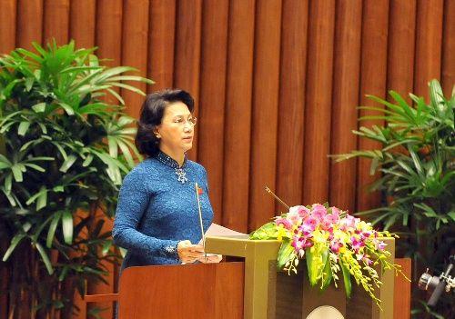 Toàn cảnh phiên khai mạc kỳ họp thứ nhất Quốc hội khóa XIV - Ảnh 2