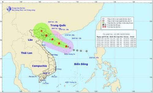 Áp thấp nhiệt đới mạnh thành bão số 1, hướng về Quảng Ninh - Hải Phòng - Ảnh 1