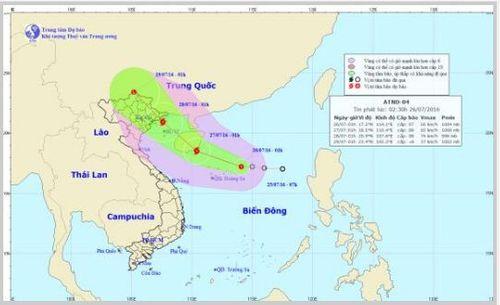 Tin áp thấp nhiệt đới trên biển Đông sáng 26/7: Khả năng thành bão - Ảnh 1