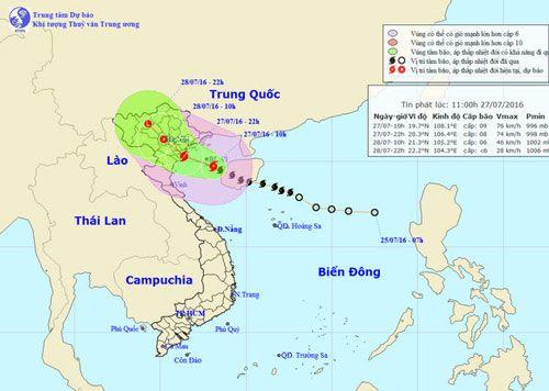 Bão số 1 gây mưa lớn tại nhiều tỉnh phía Bắc - Ảnh 1