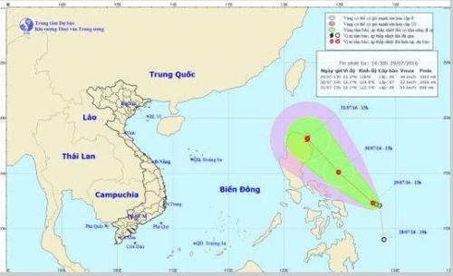 Dự báo thời tiết ngày mai 30/7: Áp thấp nhiệt đới mới khả năng thành bão - Ảnh 1