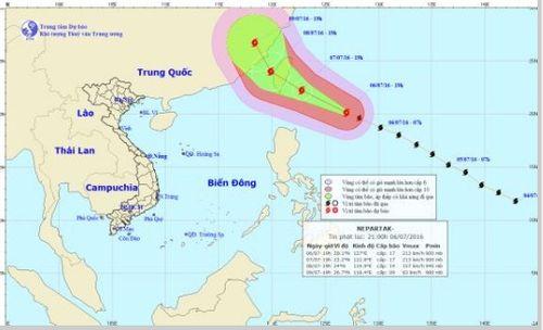 Xuất hiện siêu bão Nepartak đổ bộ vào Đài Loan - Ảnh 1