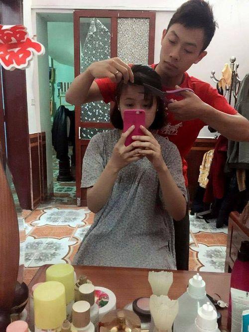 """Vợ muốn cắt tóc, chồng """"soái ca"""" trổ tài cây kéo vàng và đây là kết quả... - Ảnh 1"""