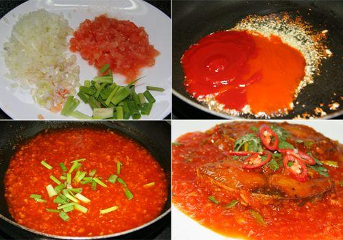 Bữa tối ngon cơm với cá thu sốt dưa, sốt cà chua đơn giản - Ảnh 4