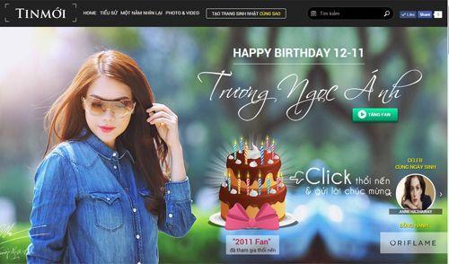 Sinh nhật Trương Ngọc Ánh: Thổi nến online nhận ngay 1,5 triệu đồng - Ảnh 1