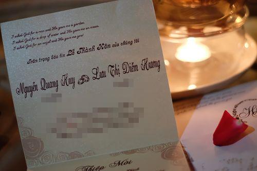 Hé lộ thiệp mời đám cưới cổ tích của Hoa hậu Diễm Hương - Ảnh 1