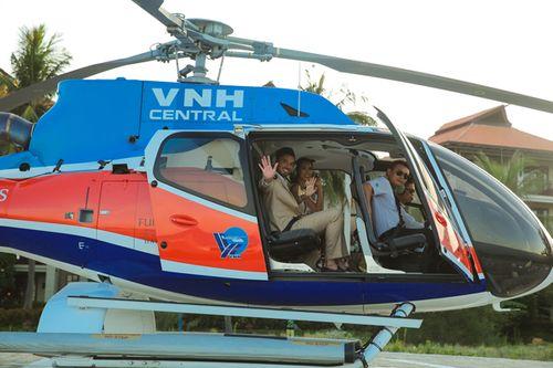 Vợ chồng Hà Anh đi trực thăng đến hôn lễ ở bãi biển Đà Nẵng - Ảnh 5
