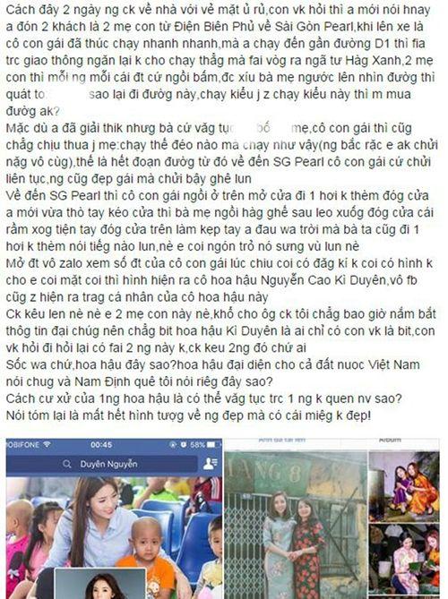 """Mẹ Hoa hậu Kỳ Duyên lên tiếng sau khi bị vợ tài xế taxi """"tố"""" con gái văng tục - Ảnh 1"""