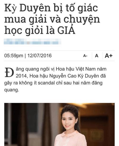 Sau scandal hút thuốc, Hoa hậu Kỳ Duyên nhờ pháp luật bảo vệ danh dự - Ảnh 1