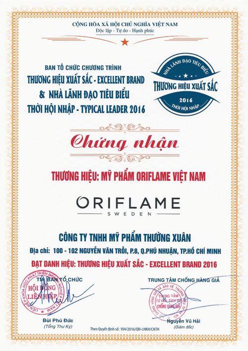 Oriflame được trao giải thương hiệu xuất sắc 2016 - Ảnh 2