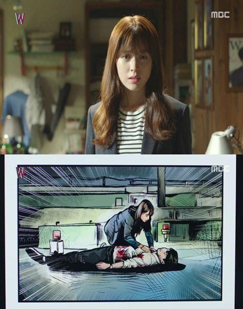 """""""W - Hai thế giới"""" tập 1: Lee Jong Suk đưa tay kéo Han Hyo Joo vào truyện tranh - Ảnh 3"""