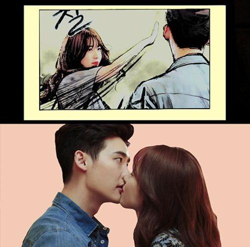 """""""W - Hai thế giới"""" tập 2: Han Hyo Joo bất ngờ tát rồi hôn Lee Jong Suk - Ảnh 8"""