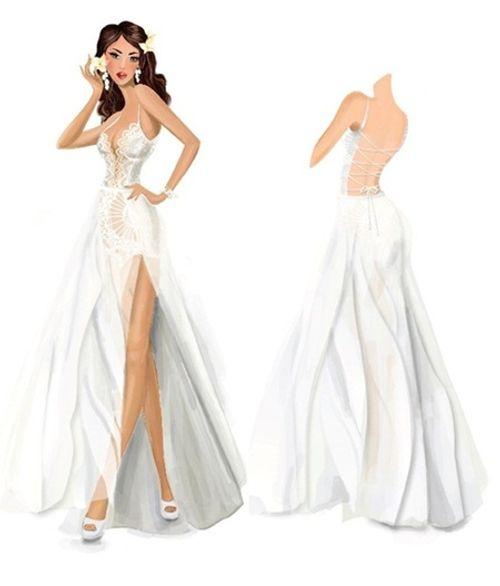 Tiết lộ váy cưới giúp Hà Anh trở thành cô dâu sexy nhất Việt Nam - Ảnh 1