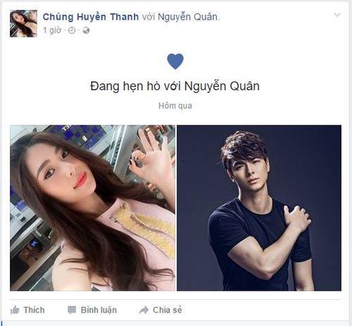 Chúng Huyền Thanh The Face công khai hẹn hò với mẫu nam điển trai - Ảnh 1