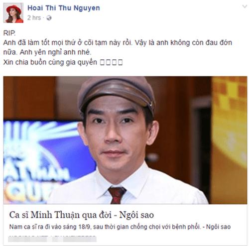 Nghệ sĩ Việt tiếc thương sự ra đi của ca sĩ Minh Thuận - Ảnh 11
