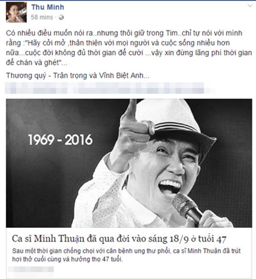 Nghệ sĩ Việt tiếc thương sự ra đi của ca sĩ Minh Thuận - Ảnh 13